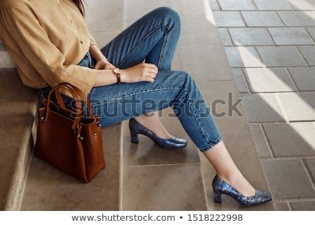 snakeskin shoes and handbag Stock photo © dolgachov