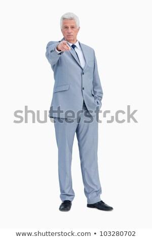 肖像 ビジネスマン ポインティング 誰か 白 手 ストックフォト © wavebreak_media