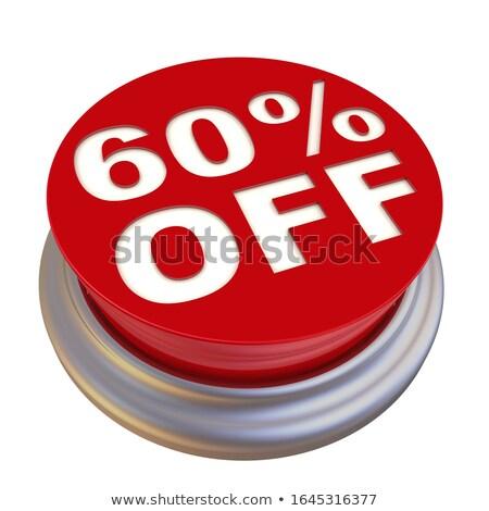 30 · százalékok · árengedmény · 3D · piros · kör - stock fotó © marinini
