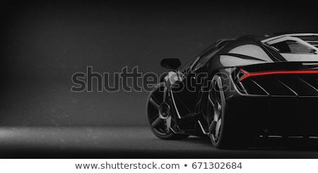 черный Спортивный автомобиль назад технологий скорости власти Сток-фото © prill