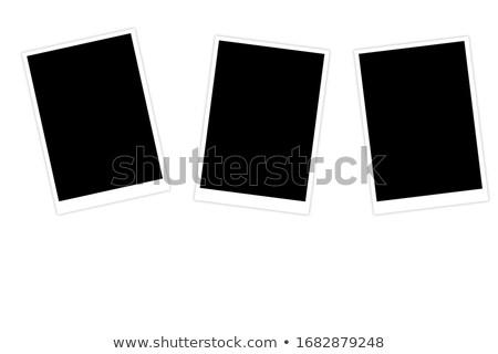 Köteg azonnali fotó izolált fehér iroda Stock fotó © neirfy