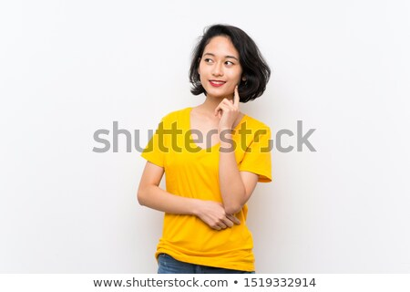 Nő kétség portré izolált fehér szomorú Stock fotó © dacasdo