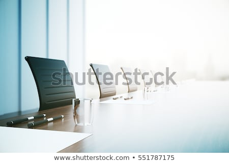 Stock photo: 3D rendering of a Meeting table and chairs in the water of a Car