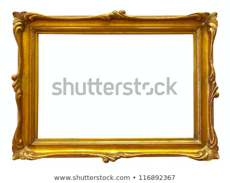 Picture Frame Gold with Clipping Path Stock photo © winterling