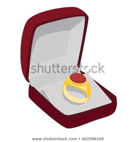 golden ring with red gem Stock photo © jonnysek