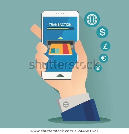 Сток-фото: Mobile Banking Button