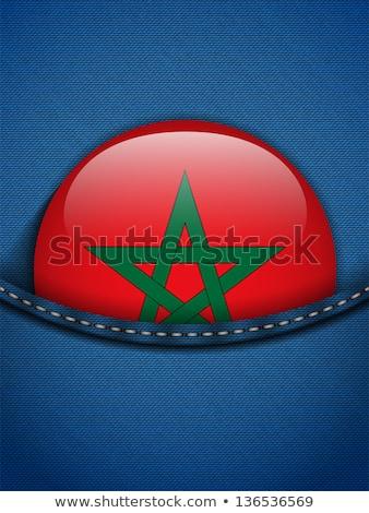 Fas · bayrak · düğme · kot · cep · vektör - stok fotoğraf © gubh83