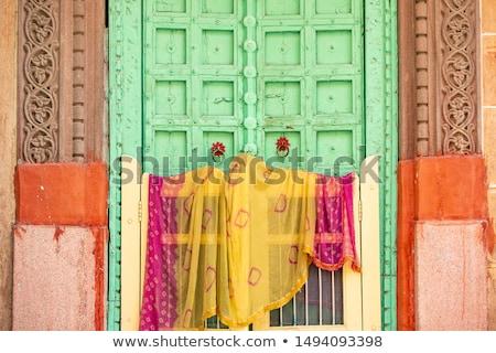 indiano · seda · fundo · cor · padrão - foto stock © dutourdumonde