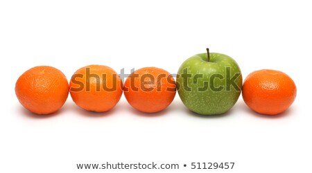 different concepts with mandarins and apple Stock photo © Mikko