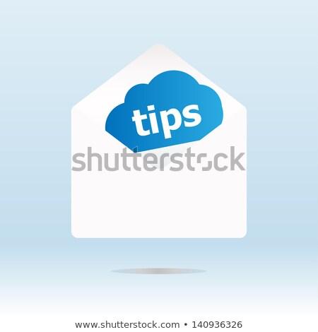 boríték · üzenet · buborék · illusztráció · terv · fehér - stock fotó © fotoscool