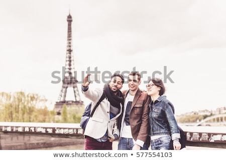 Eyfel · Kulesi · köprü · nehir · Paris · görmek - stok fotoğraf © photocreo