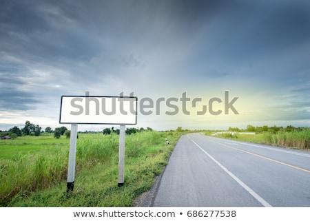 青 交通標識 自然 メッセージ 緑 森林 ストックフォト © lunamarina