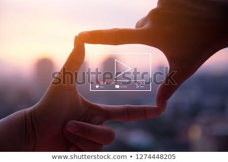 Vídeo comercialización negocios oro texto oscuro Foto stock © tashatuvango