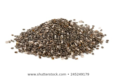 Witte zaden hoop klein bijgerecht kom Stockfoto © PixelsAway