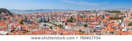 Lisboa · barrio · antiguo · Portugal · mujer · caminando · calle - foto stock © prill