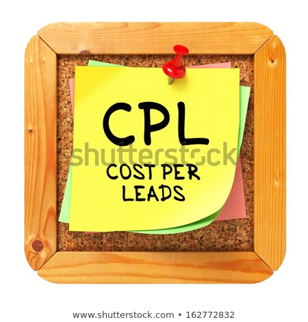 Citromsárga matrica közlöny költség által írott Stock fotó © tashatuvango