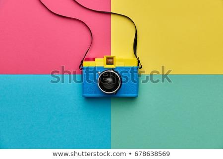 Ragazza film fotocamera vecchio isolato Foto d'archivio © courtyardpix