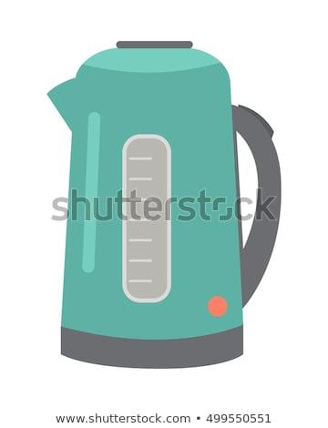 白 · 電気 · 孤立した · 水 · コーヒー - ストックフォト © lineartestpilot