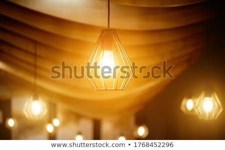 Otthon csillár üveg bronz illusztráció terv Stock fotó © yurkina