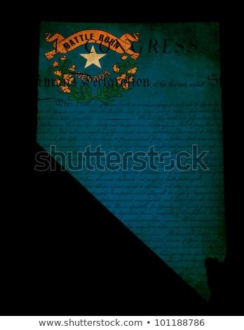 Nevada · mapa · bandeira · branco · gráfico - foto stock © speedfighter