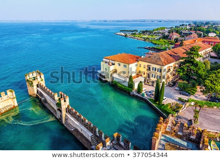 View on Lake Garda and ancient fortification. Stock photo © rglinsky77
