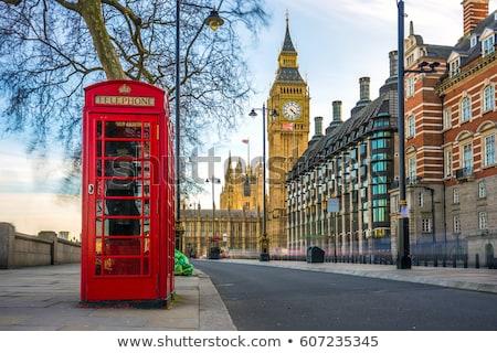 красный телефон стенд большой Бен Лондон улице Сток-фото © pab_map