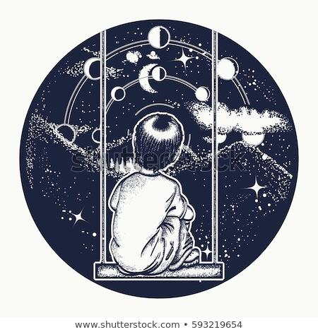The lunar dreamers Stock photo © nizhava1956