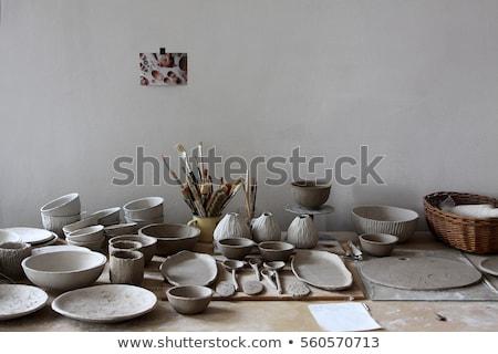 único · argila · cabana · tradicional · nativo · casa - foto stock © taigi