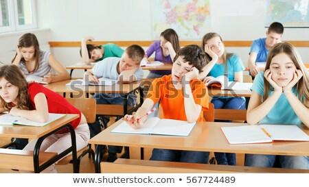 скучно · женщины · студент · девушки · класс · школы - Сток-фото © monkey_business