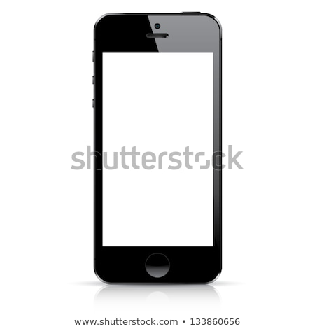 Modern responsive smartphone vector - isolated on white Stock photo © MPFphotography