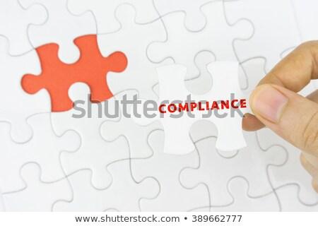 Compliance on Multicolor Puzzle. Stock photo © tashatuvango