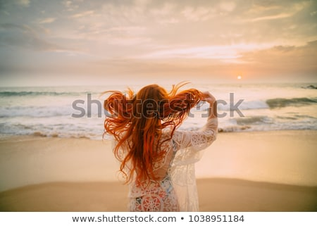 Back of a red haired woman Stock photo © gemenacom