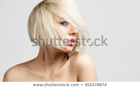 Portrait of Blond Woman with Bare Shoulders Stock photo © dash