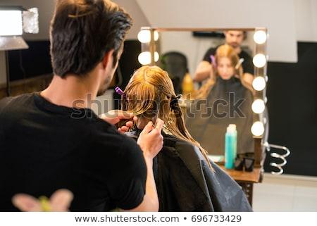 Nouvelle Rechercher blond dame sensuelle femme Photo stock © majdansky