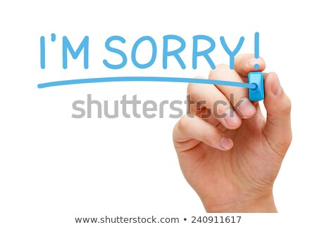 im sorry blue marker stock photo © ivelin