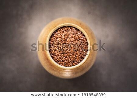 Keramische organisch lijnzaad voorraad foto voedsel Stockfoto © nalinratphi