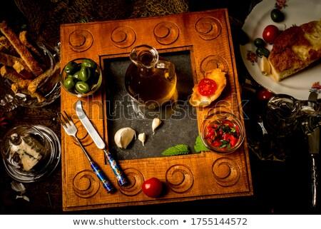 rosemary infused olive oi stock photo © marimorena