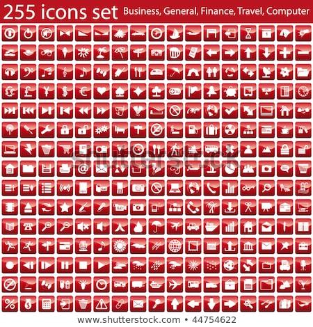 Zoom piros vektor ikon gomb háló Stock fotó © rizwanali3d