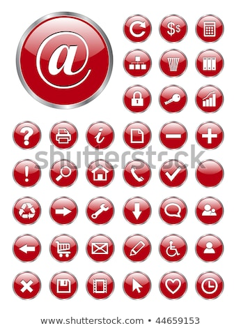 gear red vector icon button stock photo © rizwanali3d