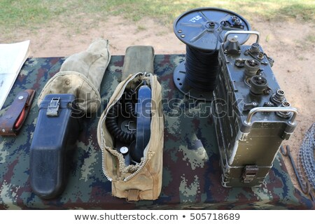 radio in the world war two military vehicle Stock photo © philipimage