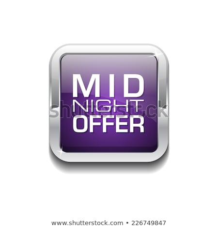 éjfél ajánlat lila vektor ikon gomb Stock fotó © rizwanali3d
