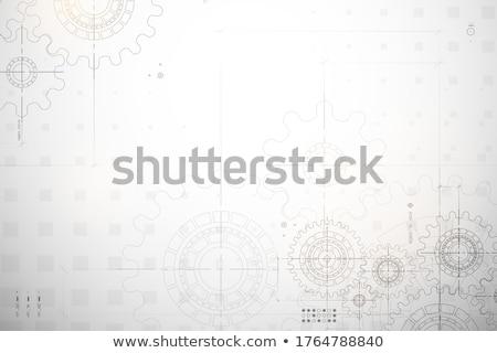 technological cooperation on metal gears stock photo © tashatuvango