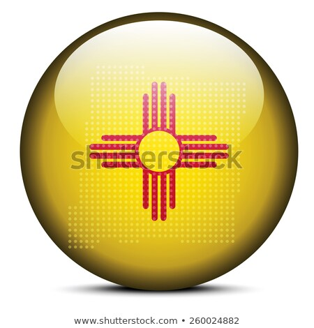 Map with Dot Pattern on flag button of USA New mexico State Stock photo © Istanbul2009