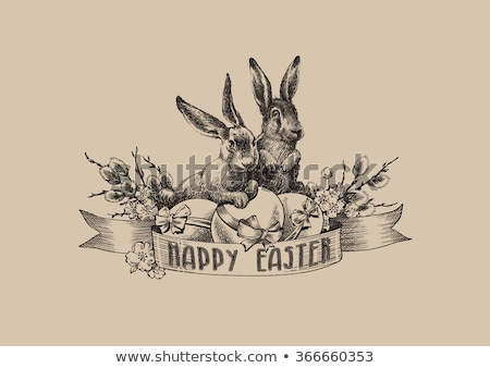 Happy Easter vintage egg, vector illustration Stock photo © carodi
