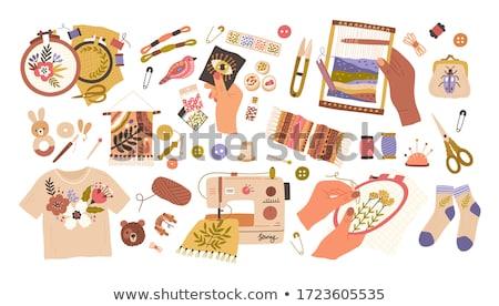 Ingesteld tools materieel handwerk eps10 achtergrond Stockfoto © LoopAll