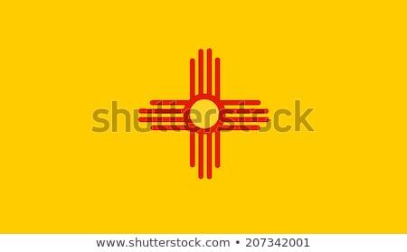 американский Нью-Мексико флаг веб-дизайна стиль кнопки Сток-фото © speedfighter