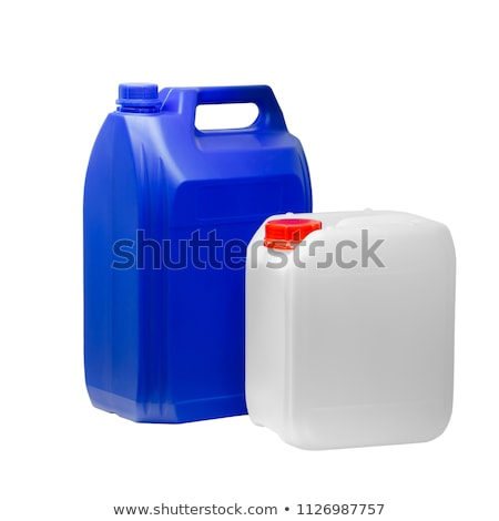 Green plastic jerry can isolated Stock photo © ozaiachin