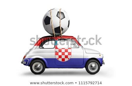 Rusya Hırvatistan minyatür bayraklar yalıtılmış beyaz Stok fotoğraf © tashatuvango
