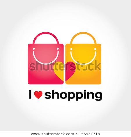 shopping sign square vector blue icon design set 2 stock photo © rizwanali3d