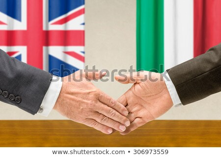 Representatives of the UK and Italy shake hands Stock photo © Zerbor
